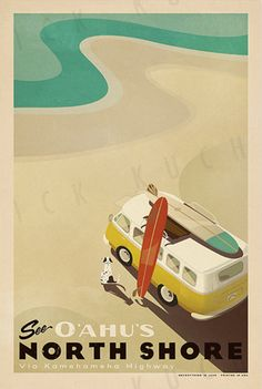 Nick Kuchar is a surfer from Florida who now lives in Hawaii. He doesn't just surf: he also designs wonderful prints, stationery and tote bags in sun bleached colours. Inspired by surf culture, of course. His label is called Everything Is Jake.