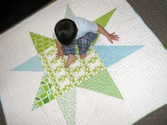 giant wonky star quilt!
