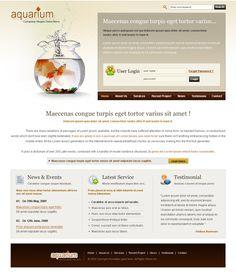 Fish CSS Template - 6253 - Animals & Pets - Website Templates - DreamTemplate