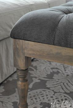 Dear Lillie: Making a Tufted Ottoman for the Family Room