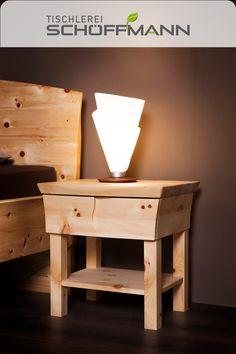 in Zirbe massiv, Holz aus den Kärntner Nockbergen Nightstand, Table, Furniture, Home Decor, Timber Wood, Decoration Home, Room Decor, Bedside Cabinet, Night Stands