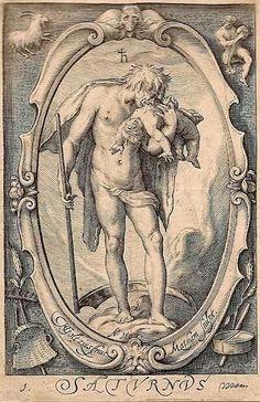 Saturn by van Goltzius, 1597; #Astrology, #occult,  #spiritual, #mystical, #paranormal