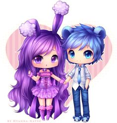 Chibi 61 41 Awesome Mission Buneary Hime and Lord Teddi by Hyanna Natsu Dibujos Anime Chibi, Cute Anime Chibi, Cute Anime Pics, Kawaii Chibi, Anime Kawaii, Gifs Kawaii, Art Kawaii, Cute Kawaii Drawings, Anime Cosplay