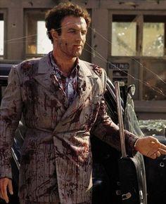 """James Caan filmando a clássica cena da emboscada a Sonny Corleone em """"O Poderoso Chefão"""" (1972)"""