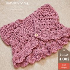 Probably the cutest shrug I ever made – Butterfly Shrug!