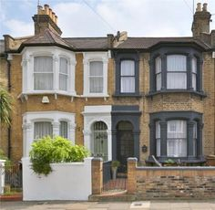 4 bedroom terraced house for sale in Roding Road, London, - Rightmove Victorian Homes Exterior, Victorian Porch, Victorian Terrace House, Edwardian House, Terrace House Exterior, Bay Window Exterior, House Paint Exterior, Exterior House Colors, Yellow Brick Houses