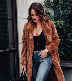 1780e711731f3 My go-to jacket lately - perfect to dress up an outfit! Teddy Coat