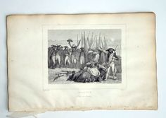 Antique 1835 Engraving Napoleon Battle of Abukir Aboukir Egypt Orig print 1st Perrotin Book Plate Gaitte French History art Prop Decor Gift by MushkaVintage3 on Etsy