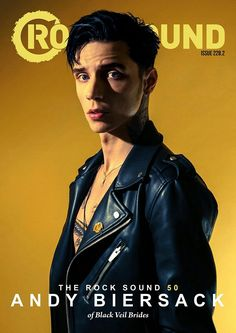 Andy Biersack ROCKSOUND cover 2017