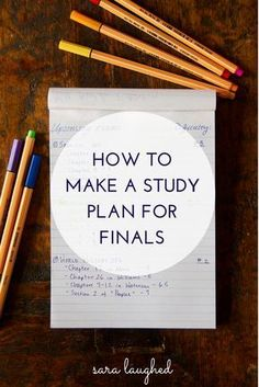 How to Make a Study Plan for Finals - Sara Laughed- helpful at any time crammed with exams and papers!