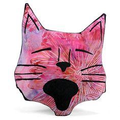 decorative pillow cat pillow animal pillow cat head shaped