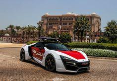 The Abu Dhabi Police Lykan Hypersport Photoshoot