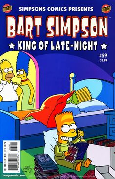 Bart attempts to read some comics and magazines, putting a broomstick shaped like his head on his bed, where he tries to hide. Homer and Marge sees that Bart is dreaming, much to their smile. The Simpsons Show, Simpsons Cartoon, Simpsons Characters, Simpson Wallpaper Iphone, Cartoon Wallpaper, Bart Simpson, Los Simsons, Best 90s Cartoons, Homer And Marge