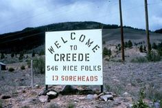 Welcome to Creede!