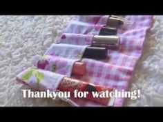 Sewing Tutorial:Stationary/Makeup Wrap ❤ - Sewing, TutorialStationary/Makeup, Wrap