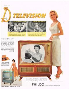 1956 Ad - Philco Diamond D Television featuring Miss America Television Set, Vintage Television, Vintage Tv Ads, Domestic Appliances, Record Players, Miss America, Miss World, Batmobile, Back In The Day