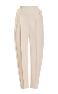 Front Pleat Pant by DELPOZO for Preorder on Moda Operandi/ chorana pants and… Fashion Details, Look Fashion, High Fashion, Womens Fashion, Fashion Design, Pleated Pants, Delpozo, Pants Pattern, Trouser Pants