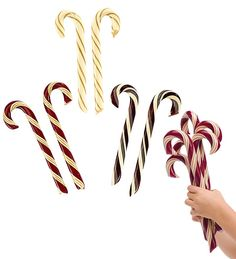 Old-fashioned candy canes.