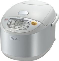 Zojirushi NS-YAC18 Umami Micom 10-Cup (Uncooked) Rice Cooker and Warmer, Pearl White