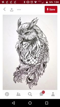 Owl Dreamcatcher Tattoo Love this one for sure Owl Tattoo Design, Tattoo Designs, Owl Tattoo Drawings, Tattoo Sketches, Art Sketches, Owl Dreamcatcher Tattoo, Buho Tattoo, Native Tattoos, Celtic Tattoos