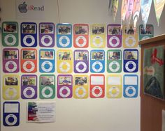 iRead visual reading display in year 6 - the more they read the more counters they get!