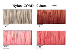 Nylon Cord 0.8mm exclusive cord  Shamballa Micro by EuforioArt