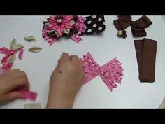 PAP Tiaras, balacas, flores, botones de rosa en cinta, Bows hair, flowers Ribbons - YouTube