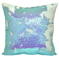 By simply brushing your hand across the fabric, you can change the look and design of the Mermaid Sequin Throw Pillow. Adding comfort to its charm, this versatile throw pillow is stuffed with plush fill for cuddling or to cushion your feet. Mermaid Bedding, Mermaid Nursery, Mermaid Pillow, Unicorn Wall Art, Mermaid Wall Art, Tiffany Blue, Mermaid Room Decor, Little Mermaid Room, Girls Bedspreads