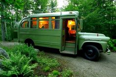 The Flying Tortoise: A Tiny Bus Coverted Into A Beautiful Motorhome...