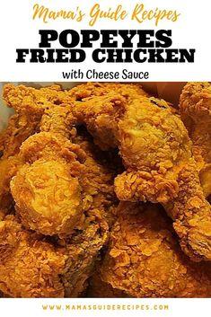 Pollo Popeyes, Popeyes Fried Chicken, Fried Chicken Legs, How To Fry Chicken, Baked Chicken, Fried Chicken Marinade, Crispy Fried Chicken, Chicken Strips, Keto Chicken