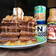 #MacroFriendly Caramel Apple Pie Protein Waffle Twin Tower!  My new protein…