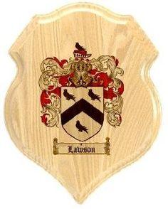 $34.99 Lawson Coat of Arms Plaque / Family Crest Plaque