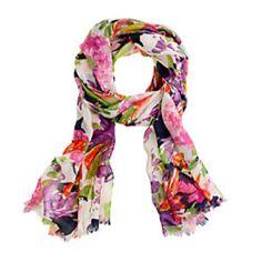 J. Crew printed summer scarf
