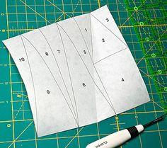 Freezer Paper Foundation Piecing quilt tutorial : by twiddletails