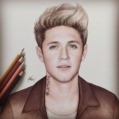 NIALL, drawn with colored pencils. ❤️ @niallhoran