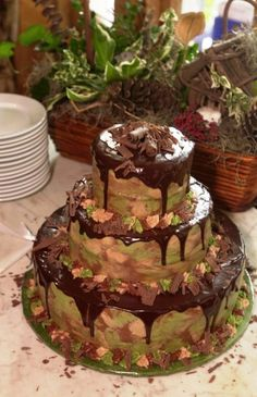Hope I don't offend anyone... I just got an order for a camo wedding cake; here is her inspiration: