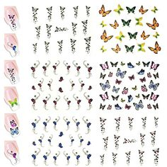 AllyDrew Butterflies Water Slide Nail Art Decals Water Transfer Nail Decals (100  Butterfly Decals) -- Want additional info? Click on the image. (This is an affiliate link) #FootHandNailCare