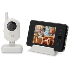 Video monitor allows viewing from iPhone, iPad via Skype. Temp, intercom, records video, color and night vision, longer range than summer infant monitor.