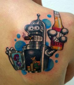 Tatouage bender futurama