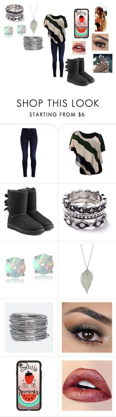 """100 Random Questions Tag"" by ocean-goddess ❤ liked on Polyvore featuring UGG, WithChic, Glitzy Rocks, Avenue, Casetify, bedroom and country"