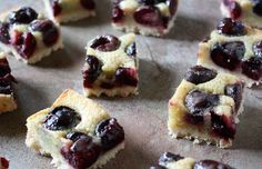 Cherry brown butter bars.
