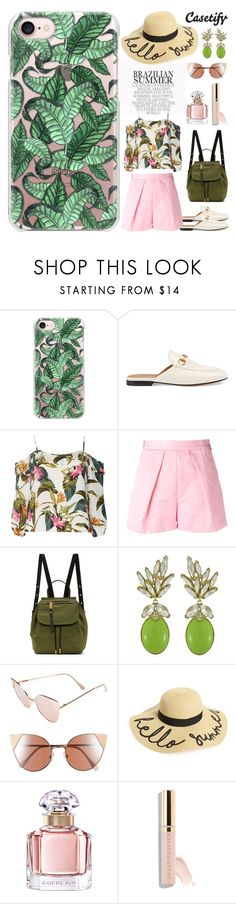 """""""Hello Summer, I'm Ready 🌴"""" by casetify ❤ liked on Polyvore featuring Casetify, Gucci, Dorothy Perkins, MSGM, Marc Jacobs, Ciner, BP., Guerlain and Beautycounter"""