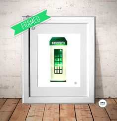 Old irishTelephone Box, Malin Village, Co Donegal Ireland, wall art, wall decor, Iphone7, The wild Atlantic way, Green, includes frame by RedboyDesign on Etsy