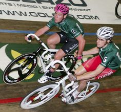 Cav and Wiggins on the track