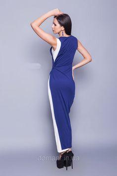 Двухцветное длинное в пол коктейльное платье, греческий стиль, размер 42, фото 2