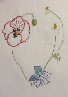 Field flowers alphabet - V Embroidery  Keka❤❤❤