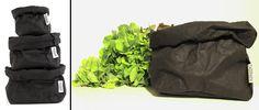 Bolsa de papel lavable Paper Bag Black de Uashmama para utilizarla como maceta, frutero, bolso, etc. #paperBag #Uashmama #BolsaDePapel #maceta #macetero #frutero #bolso #almacenaje #decoration