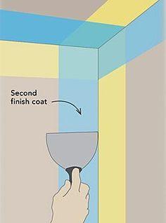 Finishing a Drywall Inside Corner - Fine Homebuilding Home Improvement Loans, Home Improvement Projects, Home Projects, Man Projects, Drywall Tape, Drywall Repair, Drywall Corners, Home Renovation, Home Remodeling