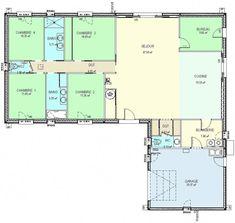 CONSTRUCTION-86.FR > plan maison plain pied de type 6 // à revoir #bricolagemaison
