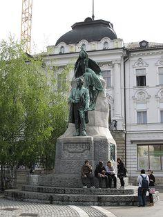Statue of France Prešeren | Flickr - Photo Sharing!